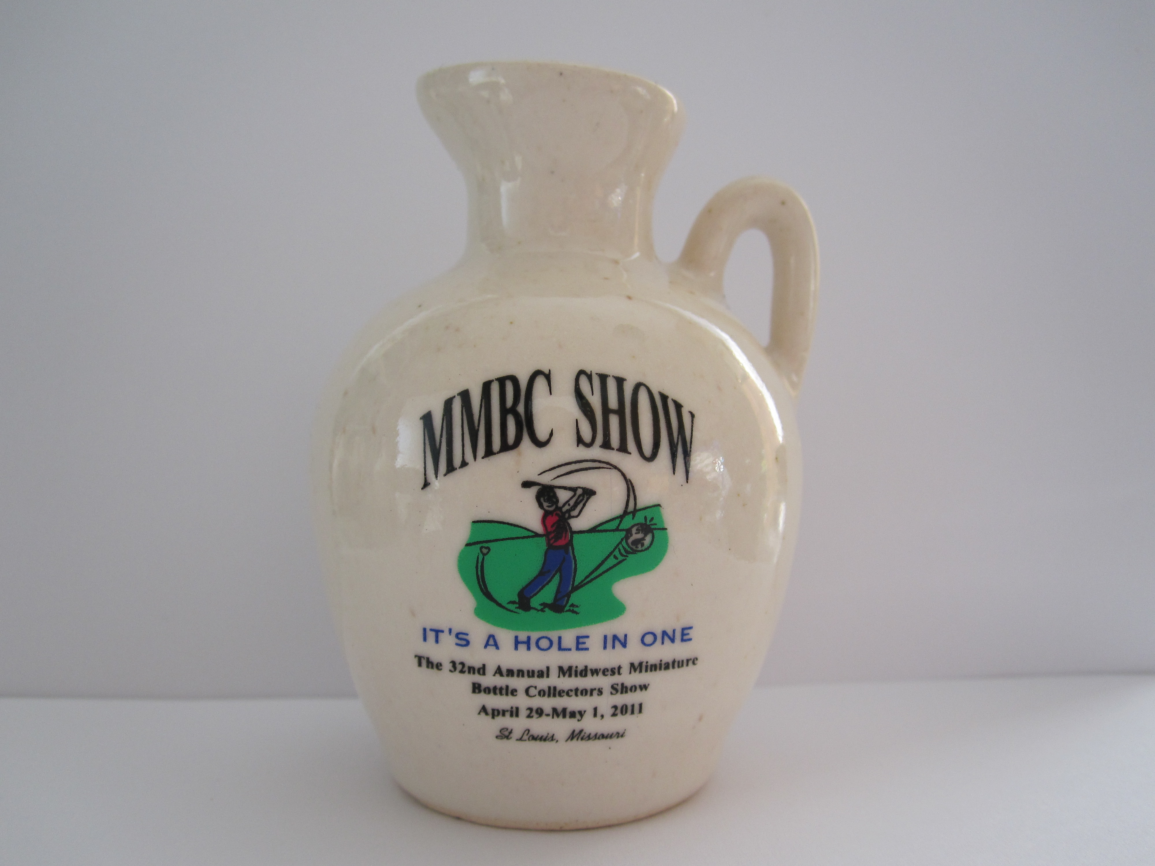 32th Anniversary Midwest Miniature Bottle Club Jug – Front side